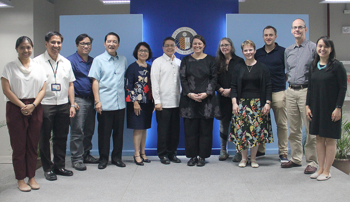 Project team poses with Ateneo officials led by University president Fr. Jose Ramon T. Villarin, SJ.